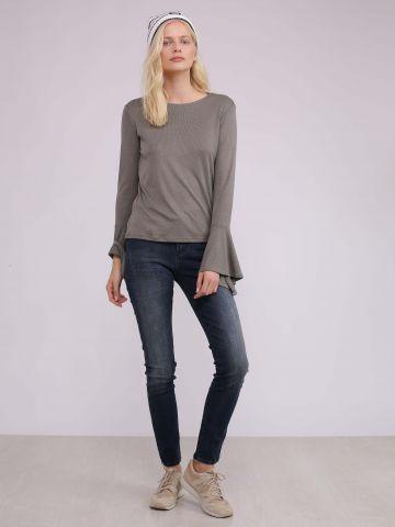מכנסי סקיני ג'ינס עם שטיפה