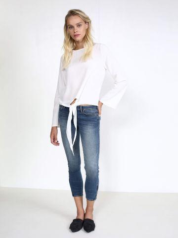 ג'ינס סקיני עם רוכסנים בצדדים SCARLETT CROPPED BROOKLYN