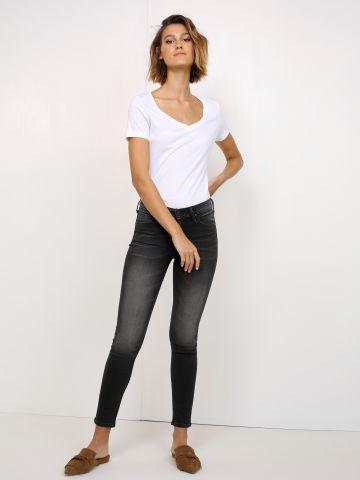 מכנסי ג'ינס סקיני Scarlett Broom Black