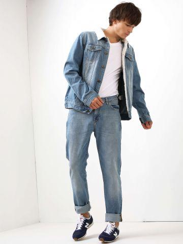 מכנסי ג'ינס גזרה ישרה Rider Light Shade