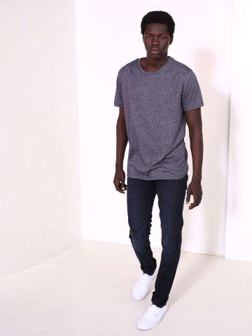 מכנסי ג'ינס בגזרה קלאסית עם קרעים Luke Deep Night