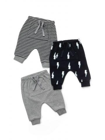 מארז 3 מכנסיים עם שרוך / בייבי בנים