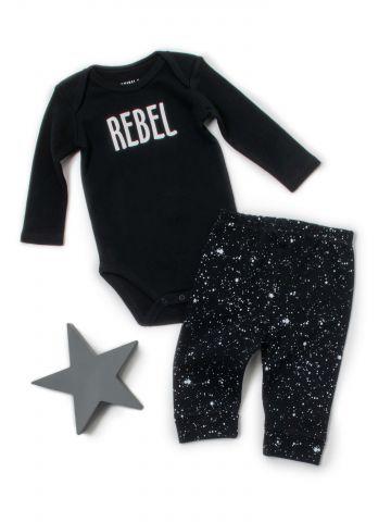 סט בגד גוף ומכנסיים Rebel / בייבי בנים
