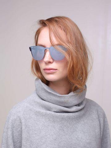 משקפי משמש עם עדשות מראה שטוחות