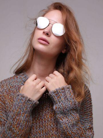 משקפי שמש במסגרת כסופה מדגם Lon