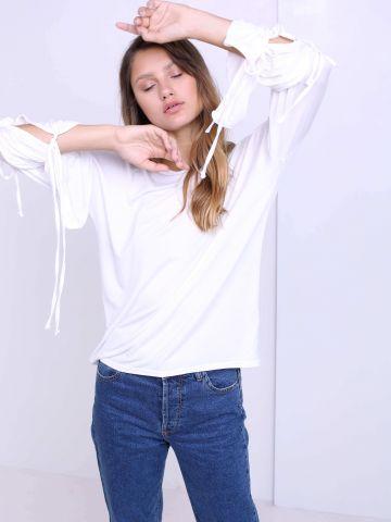 חולצת שרוולי קשירות