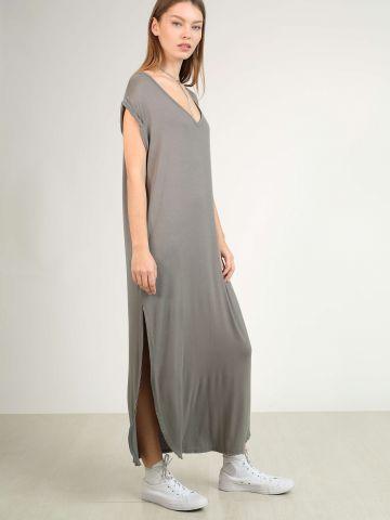 שמלת במבוק חלקה