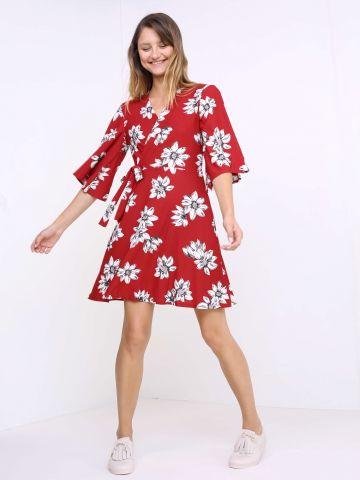שמלת מעטפת פרחונית