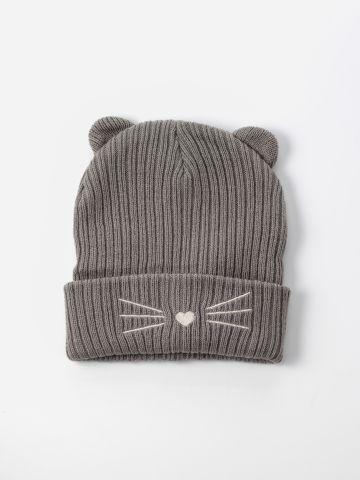 כובע גרב עם אוזני חתול