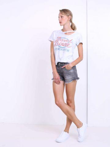 מכנסי ג'ינס קצרים סיומת פרומה
