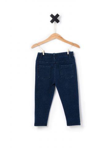 מכנסיים מבד דמוי ג'ינס
