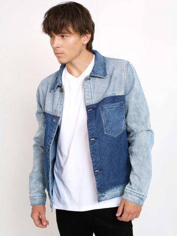 ג'קט ג'ינס שני צבעים