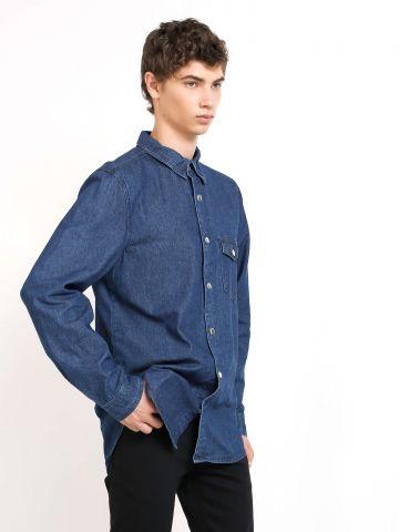 חולצת ג'ינס עם רקמה בגב
