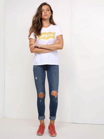 ג'ינס סקיני עם קרעים בברכיים 721