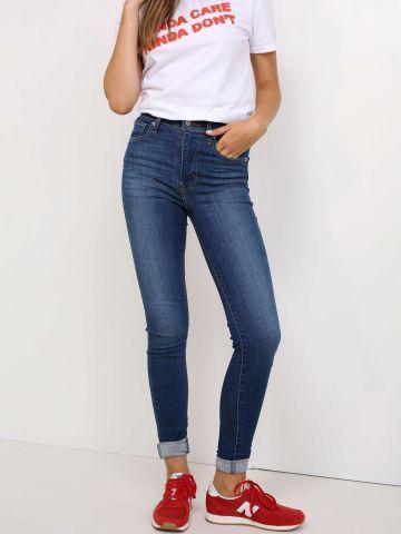 מכנסי סקיני ג'ינס גזרה גבוהה MILE HIGH SUPER SKINNY RUNNIN'
