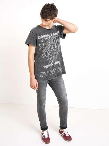 ג'ינס סקיני סלים אסיד-ווש 519
