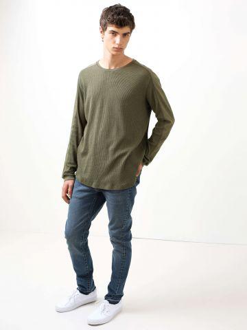 מכנסי סקיני ג'ינס סיומת פרומה 510TM