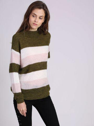 סוודר פסים רחבים