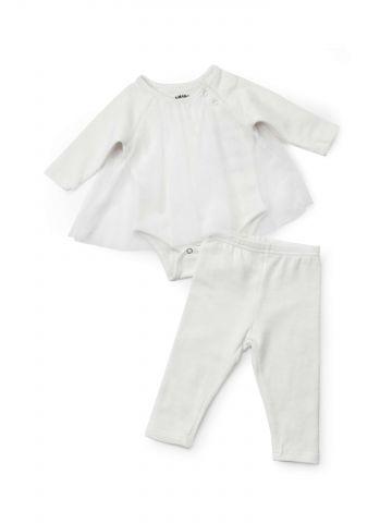 סט בגד גוף ומכנסיים עם טול