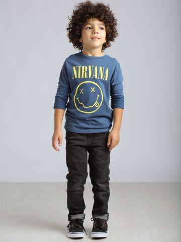 חולצה עם הדפס Nirvana ושרוולים ארוכים