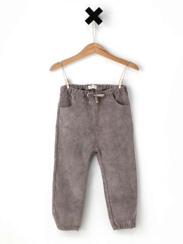 מכנסיים דמוי זמש