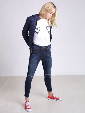 סקיני ג'ינס עם קרעים בברכיים Freebirds II