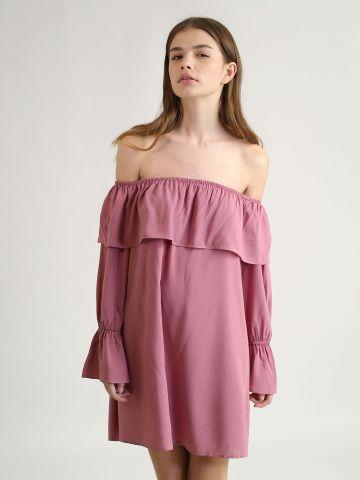 שמלת אוף שולדרס עם מלמלה
