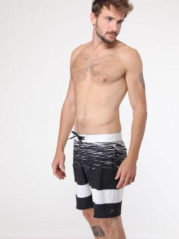 מכנסי בגד ים פסים עבים