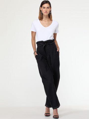 מכנסי פייפרבאג עם חגורת קשירה