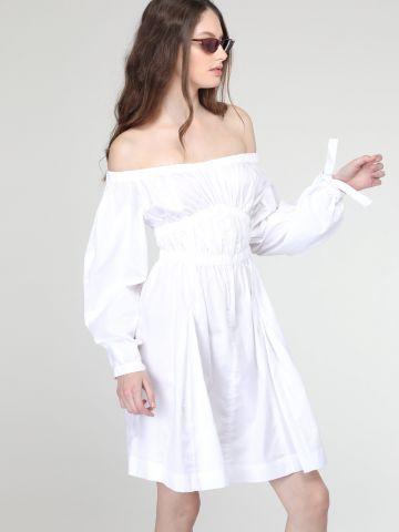 שמלת אוף שולדרס עם שרוולים נפוחים