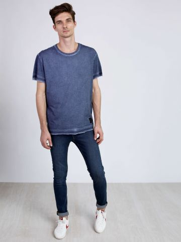מכנסי סקיני ג'ינס עם שטיפה Tight Pure Blue