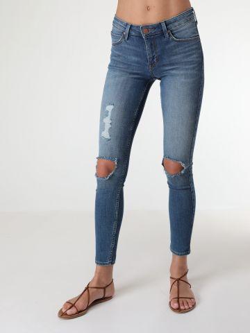 ג'ינס סקיני עם קרעים JODEE TRASHED ALEXA