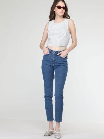ג'ינס סקיני בגזרה גבוהה SCARLETT