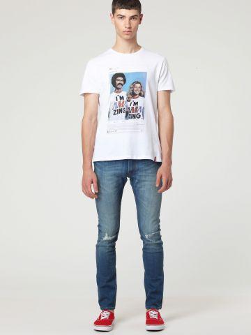 ג'ינס סקיני עם שפשופים Luke Slam Damage