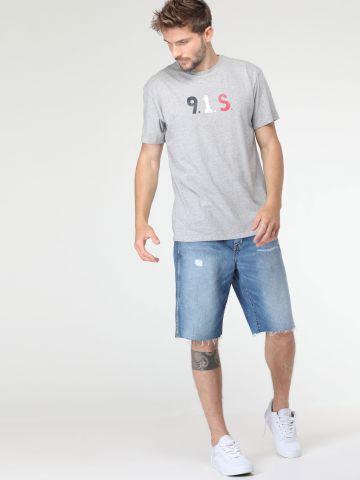 ג'ינס קצר עם סיומת פרומה Blue Land