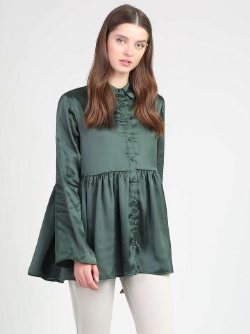 חולצת סאטן פפלום