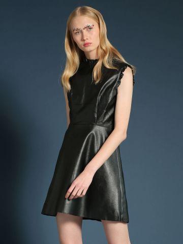 שמלת דמוי עור