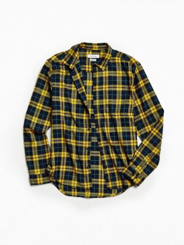 חולצת פלאנל מכופתרת UO