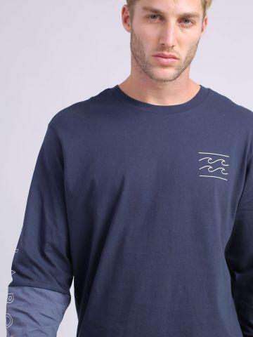 חולצת טי שירט לוגו עם שרוולים ארוכים