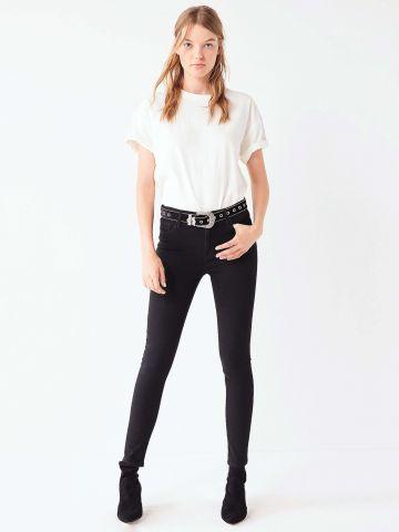 מכנסי סקיני ג'ינס מותן גבוהה BDG