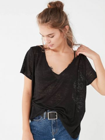 Project Social T Textured-Knit