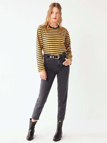 מכנסי ג'ינס בגזרת MOM אורך קרסול BDG
