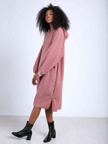 שמלת סווטשירט אוברסייז צמרירית