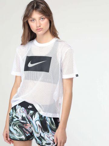 מכנסי ספורט קצרים בהדפס מרבל