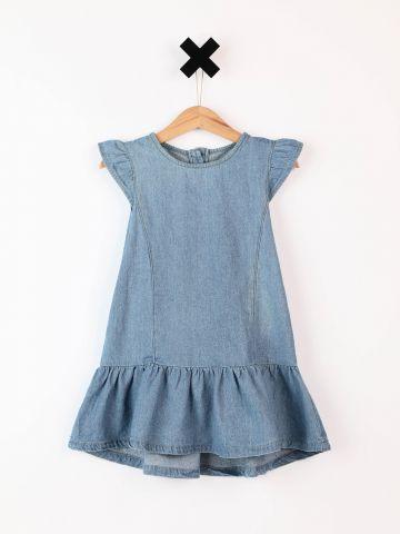שמלת ג'ינס מיני עם כתפורים מאחור / בייבי בנות - בנות