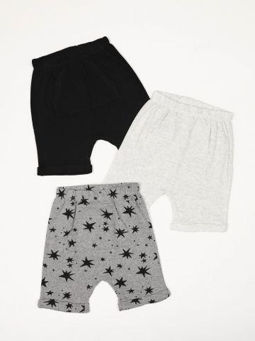 מארז 3 מכנסי טרנינג ברמודה קנגורו