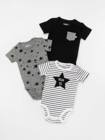 מארז 3 בגדי גוף כוכבים