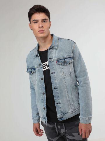 ג'קט ג'ינס בשטיפה בהירה Levi's