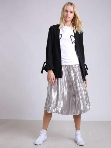 חצאית פליסה מטאלית