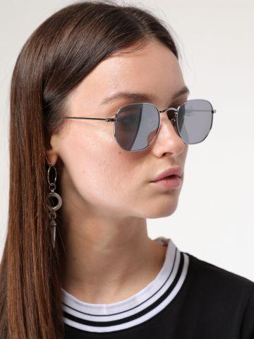משקפי שמש עגולים בסגנון טייסים